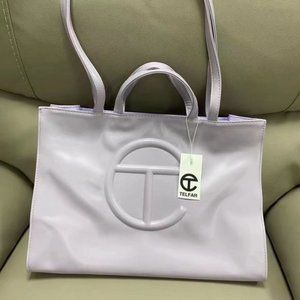 Telfar Medium Light Purple Shopping Bag